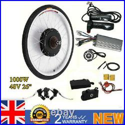 1000W 48V 26 Electric Bicycle Cycling Ebike Rear Wheel Conversion Hub Motor Kit