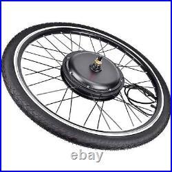 1000W 48V 26 Electric Bicycle Motor Conversion Kit Front Wheel Bike Cycling Hub