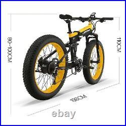 1000W Motor E Bicycle 26 Fat Tire Tyre Electric E Bike 40KM Folding Foldable