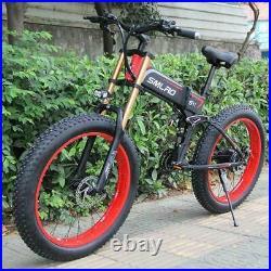 1000w Electric Bikes 48v 10Ah Fat 26 Inch Mountain Ebike Motor Bike Foldable