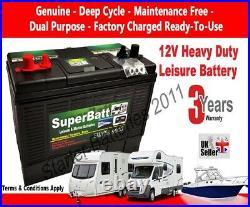 12V 120AH SB DT120 Deep Cycle Leisure Battery Caravan Motorhome Motor Mover Boat