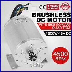 1800W 48V DC Electric Brushless Motor -5200 RPM E-bike DIY E-Bike Sprocket