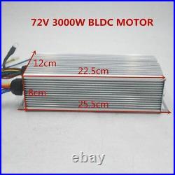 1Set Electric Bike Motor 72V 3000W Brushless Motor Controller 48V 72V 50A Kit