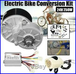 250W 24V 3300rpm Electric Bike Conversion Kit Motor Controller fr 22-28 E-Bike