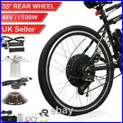 261500W Electric Bicycle Motor Conversion Kit E-Bike Rear Wheel Hub 48V