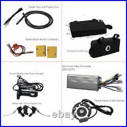 2648V 1000W Electric Bicycle Conversion Kit DIY E-Bike Rear Wheel Motor Hub Kit