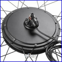 26 1000W Front Wheel Electric Bicycle Conversion Kit E-Bike PAS LCD Motor 48V