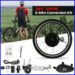 26 36V 500W Electric Bicycle Front Hub Motor Conversion Kit E-Bike Wheel R0E2