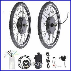 26 48V 1000W Electric Bike Conversion Kit Front Wheel Brushless Motor Hub