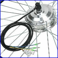 26'' E-Bike Hub Motor Kit Front Wheel 48V 1000W Electric Bicycle Conversion Kit