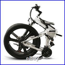 26'' Ebike Folding Electric Bike 350W Motor Electric Bicycle Mountain Bike T7U2