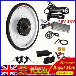 26 Electric Bicycle Motor controller E-Bike Rear Wheel Conversion Kit 48V 1KW