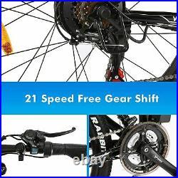 26'' Electric Bike Folding Electric Mountain Bike (SUP-MOTOR) E-Bike (White) UK