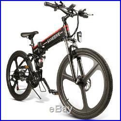 26'' Folding Electric Bike 48V 350W Motor Electric Bicycle Mountain E-Bike P3D9