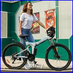 26 Folding Electric Bikes Mountain Bike 250W Ebike E-Citybike Bicycle 21 Speed