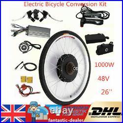 26 Rear Wheel Conversion Kit 48v 1000w Motor Hub Electric Bicycle E Bike