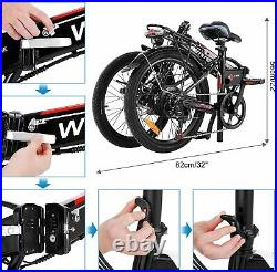 26 inch Electric Bike for Adult, Foldable Electric Commuter Bicycle 350W Motor UK