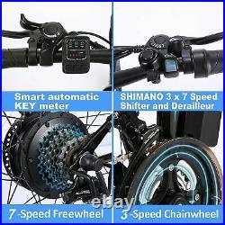 26in Electric Bikes Mountain Bike Folding Ebike E-Citybike Bicycle 350W 21 Speed
