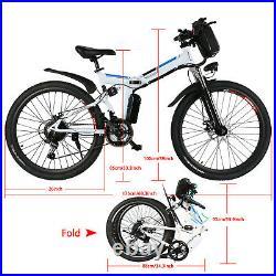 26inch Electric Bikes Electric Mountain Bike, Folding E-bike City Cycling Stock