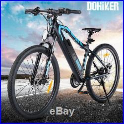 27.5'' Electric Bicycle Dual Disc Brakes 250W Motor Shimano 21-Speed Gear E-Bike