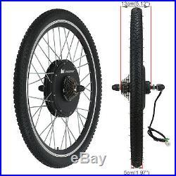 28 1000W Rear Wheel Electric Bicycle Conversion Kit Speed Hub Motor LCD Meter