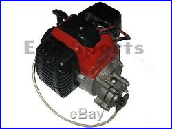 2 Stroke Super Mini Pocket Bike Engine Motor 49cc Parts w Electric Starter