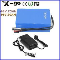 36V 48V 20Ah 500W 1000W PVC Rechargeable Li-ion E-Bike Battery Electric Bicycle