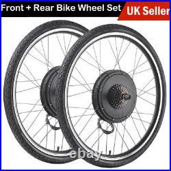 36V 500W Electric Bicycle Motor Conversion Kit E Bike Front Rear 26 Wheel Hub