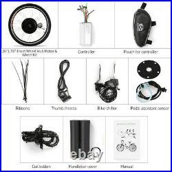 36V 500W Electric Bicycle Motor Conversion Kit E Bike Rear 26 Wheel Hub L0Q1