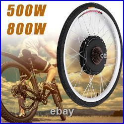 36V 500W Electric Bicycle Rear Wheel 26'' Conversion Kit E-Bike Hub Motor Kit