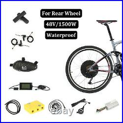 48V1500W Front Electric Bicycle Motor Conversion Kit EBike 26 Wheel Cycling Hub