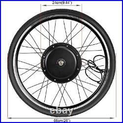 48V 1000W 26 Electric Bicycle Motor Conversion Kit Front Wheel E Bike Cycling