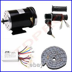 48V 1000W Electric Brush Motor Controller LCD Throttle Chain E Bike Razor ATV