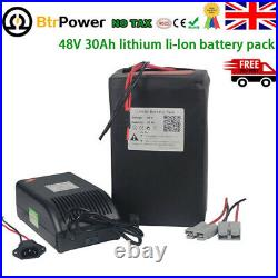 48V 30Ah Lithium Li-ion Cell Battery Pack for Electric Bike 1500W Motor +Charger