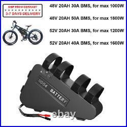 48V 52V 20Ah Electric Bike Battery for 750W 1000W 1500W Bafang Voilamart Motor