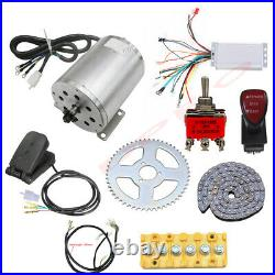 48v 1800w Brushless Electric Motor Controller Pedal Kit Go Kart Bicycle Scooter