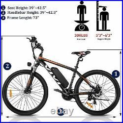 Adults E-Bike 26 Electric Bikes Mountain Bicycle 350W Motor Citybike 21 Speed
