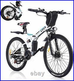 Assist E-Bike 26 Electric Bike Folding Mountain Bike 350W Motor 21Speed Shimano