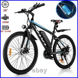 Assist E-Bike 26 Electric Bike Mountain Bike 350W Motor 21Speed Shimano Bicycle