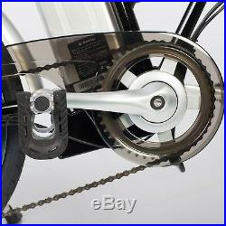 Black TDL6123 Folding Ebike Electric Bike 36V 10AH Lithium Battery 250W Motor