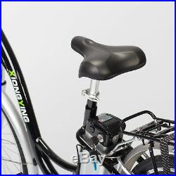 Black TDL6162 City Ebike Electric Bike 36V 10AH Lithium Battery 250W Motor Power