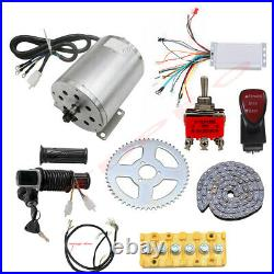 Brushless Electric Motor Controller 48V 1800W Kit Go Kart Bicycle Scooter E Bike