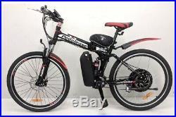 Customised 48v 1000w electric folding mountain bike lithium battery