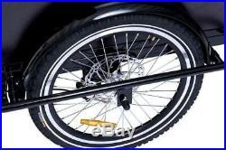 Danish Electric Cargo Bike with Transparent Rain Canopy and Powerful 250W Motor
