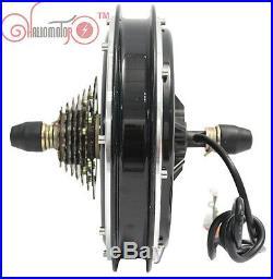 EbikePower 36/48V 1000W Threaded Rear Brushless Gearless Hub Motor Electric Bike