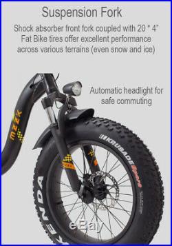 Ebike Foldable Fat Bike Electric Bike 400W 48V 20'' 90 Mile Range