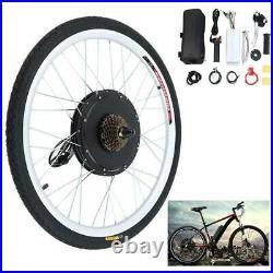 Electric Bicycle Kit 48V 1000W 26'' Rear Wheel E Bike Motor Conversion Hub 2021