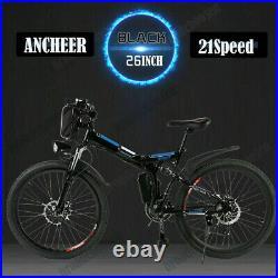 Electric Bike 26'' Mountain Bike Folding Ebike E-Citybike Bicycle 35km/h 21speed