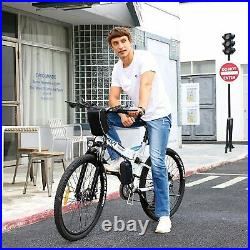 Electric Bike 26 in Mountain Folding Citybike 21-Speed 35km/h Motor Bicycle 250W