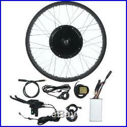 Electric Bike 48V/72V 1000-3000W Hub Motor Rear Wheel Conversion Kit 20''-26'
